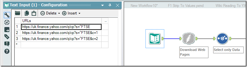Downloading FTSE Data From Yahoo! and Quandl using Alteryx | James