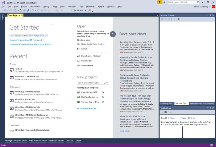 Open Visual Studio