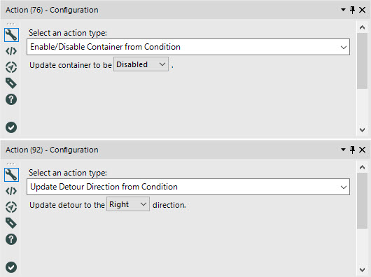 Action Tool Configuration