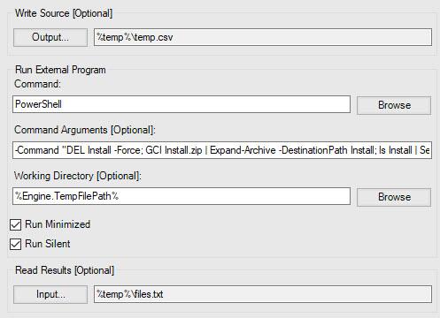 Installer Command Tool
